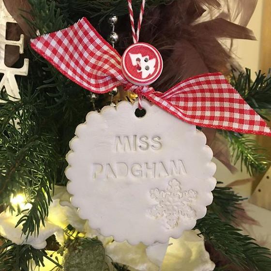 Blogmas Day 4 -Christmas Clay Tree Decorations