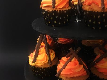 Bonfire Night Cupcakes