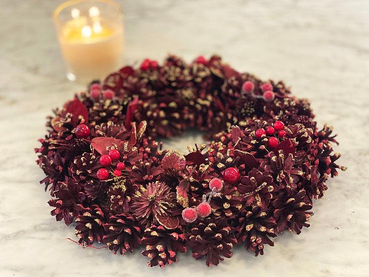 The Cranberry Cone Wreath