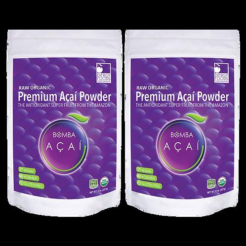 Two 8 oz Acai Premium Powder