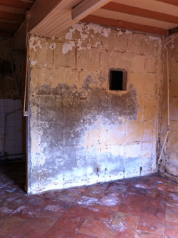 Mur cuisine démoli