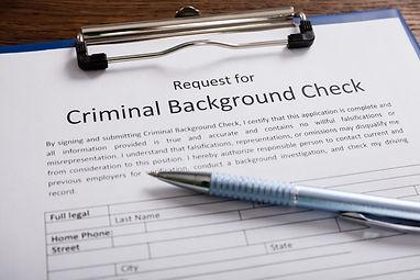 Close-up Of Criminal Background Check Ap