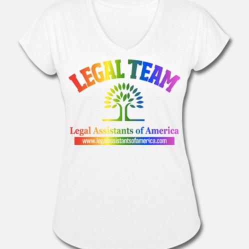 Rainbow Legal Team Tri-Blend V-Neck T-Shirt