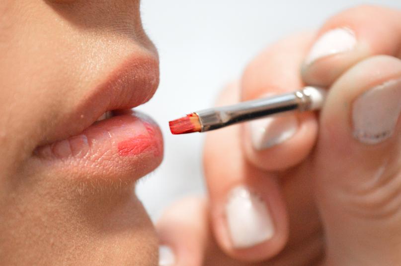 Lipstick aanbrengen
