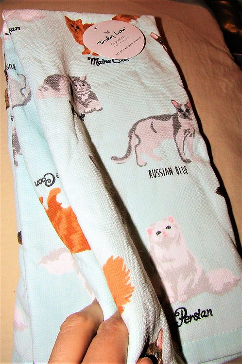 Cat kitchen towels