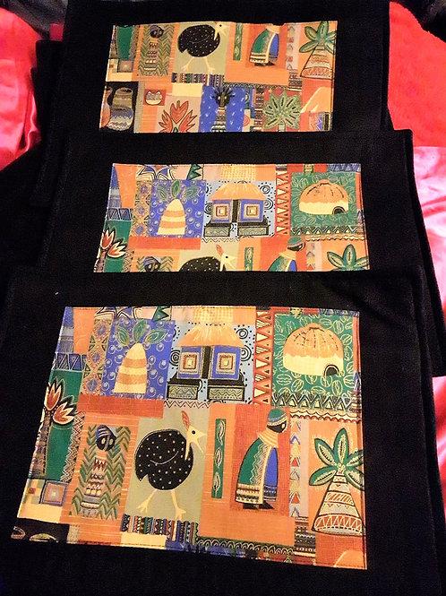 Set textile placemats