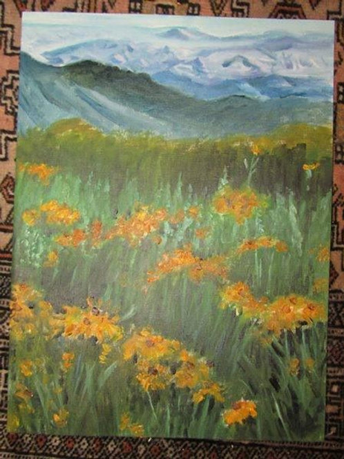 Painting of meadow