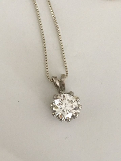 CZ pendant and chain