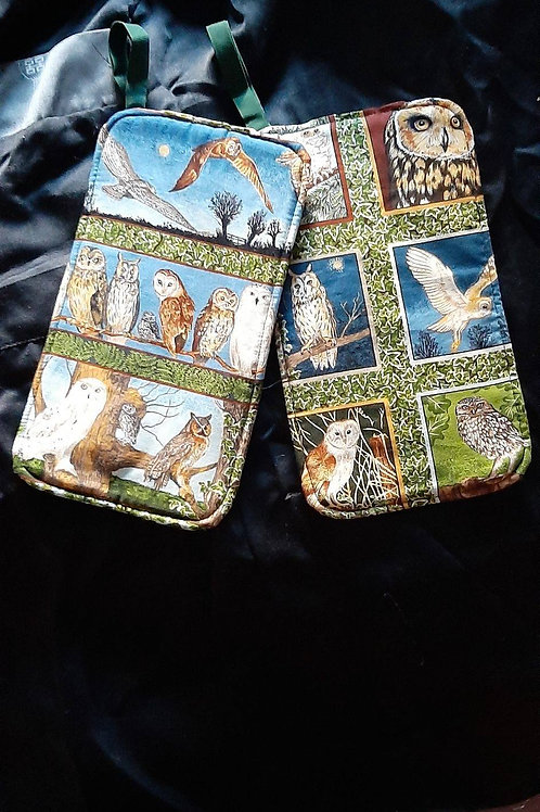 Oven Mittens with Owls