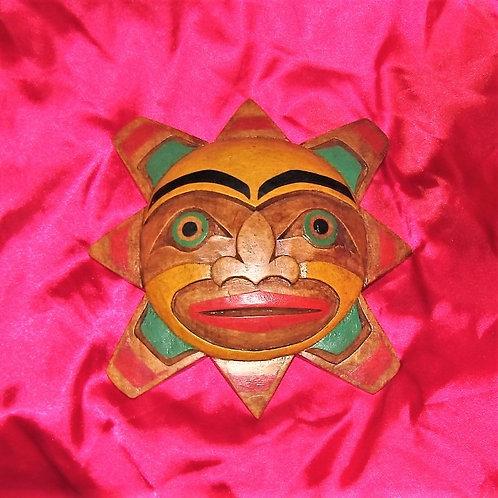 Sun wood mask
