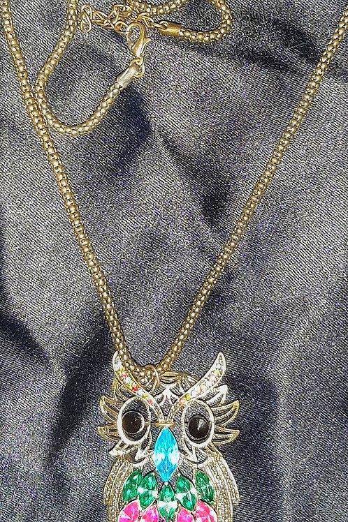 Owl pendant w necklace