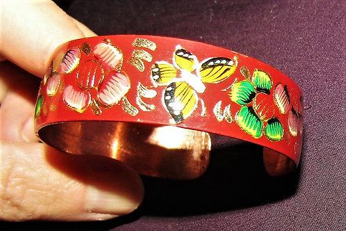 Painted Copper Bracelet