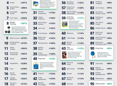 2020 成長最多的電商商品 - 前100名 (美國)