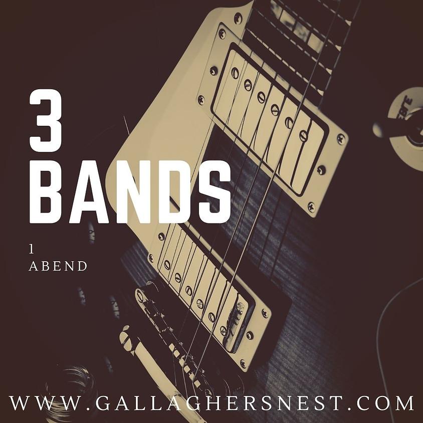 3 Bands // 1 Abend