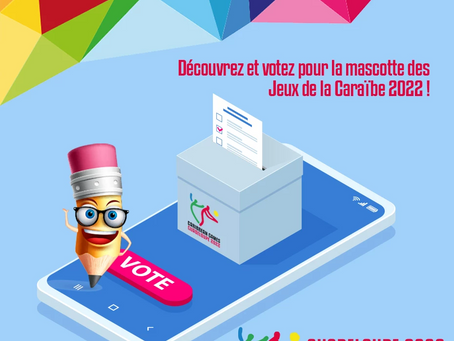 VOTEZ POUR LA MASCOTTE DES JEUX DE LA CARAÏBE 2022
