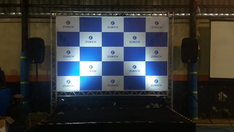 backdrop e palco