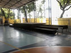 palco confraternização