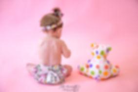Photo bébé fille ourson