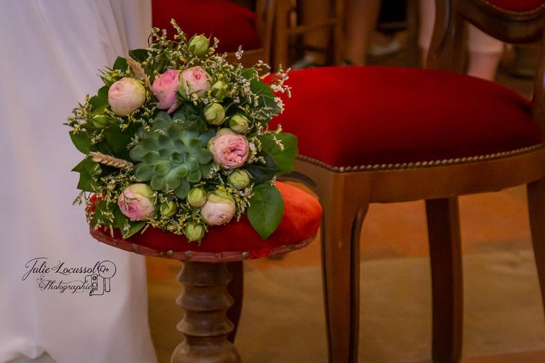 bouquet à l'église