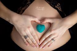 Coeur sur ventre grossesse
