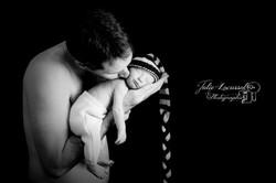 photo de bébé lutin et papa