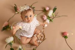 Photo 1an bébé fleurs Charente