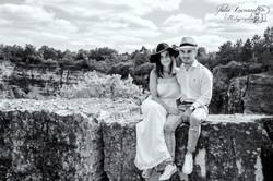 Photo couple carrière abandonnée