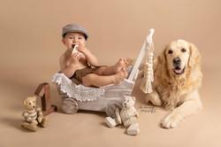 Photographe bébé et chien Cognac