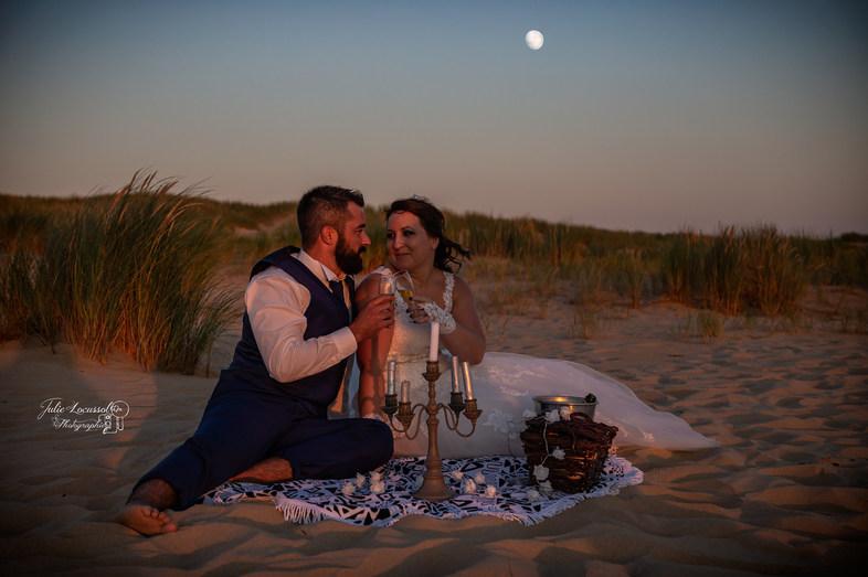 picnic romantique au clair de lune