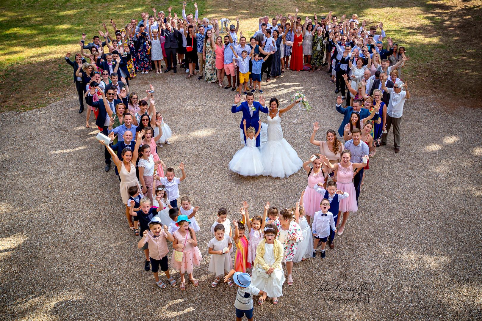 tous unis pour les mariés ♥