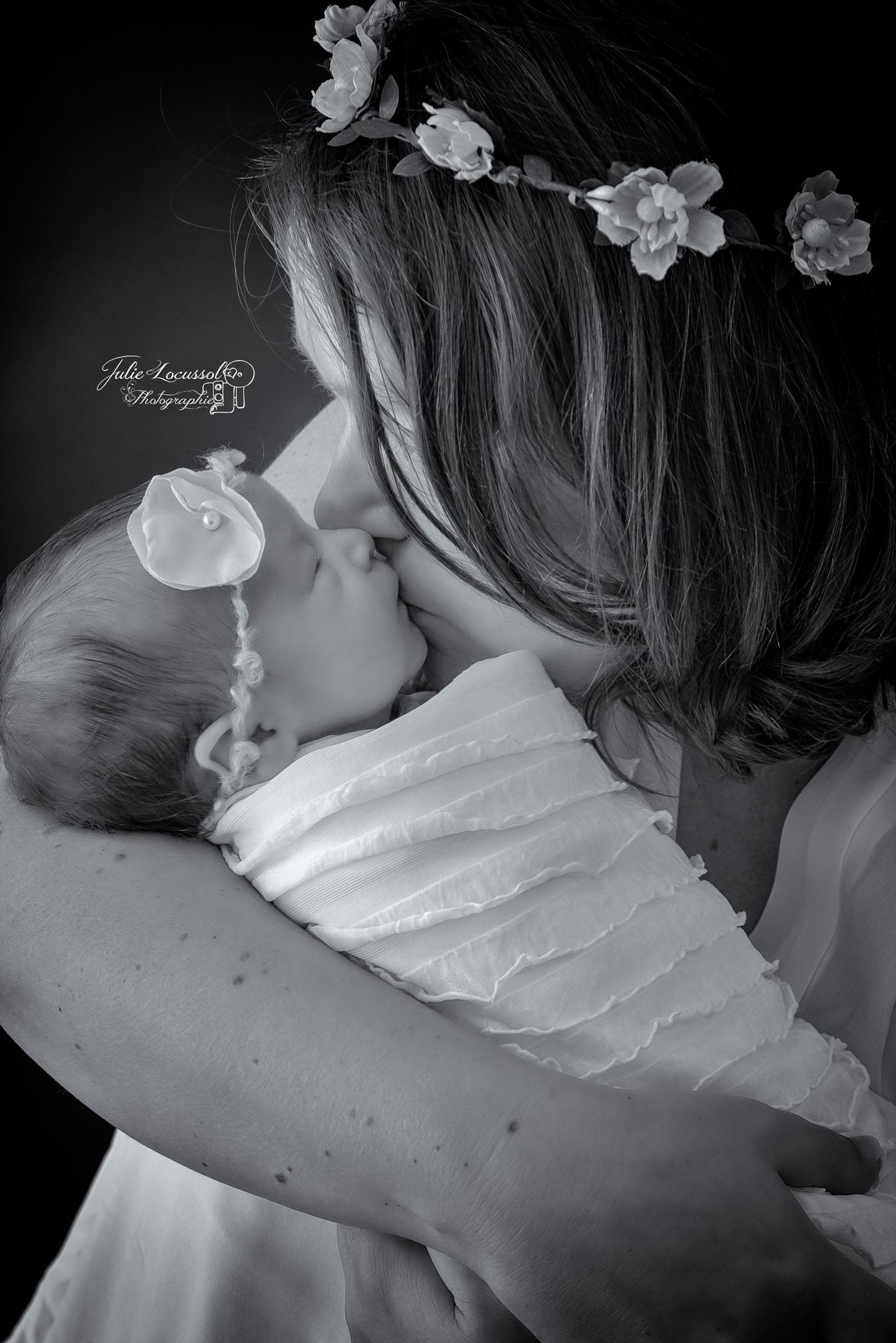 Séance photo bébé et maman