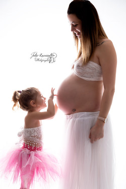 mère, fille et bébé
