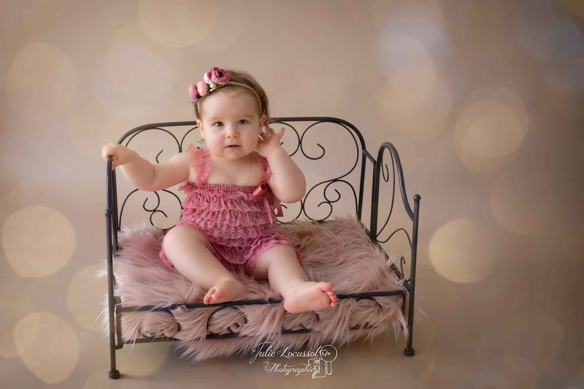 Photographe bébé 1 an charente