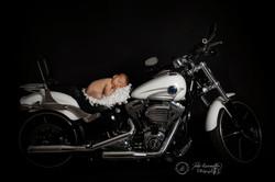 bébé sur Harley Davidson Charente