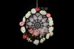 photo nouveau né balançoire fleurs