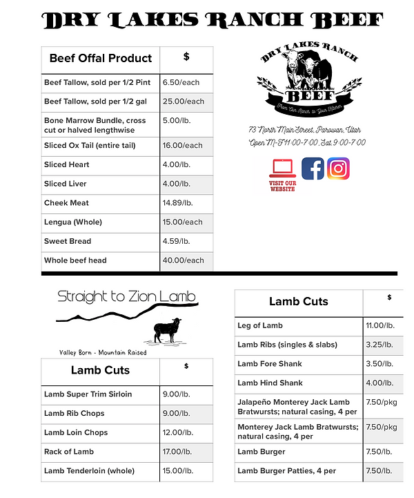 Dry Lakes Ranch Beef Price List p.2.png