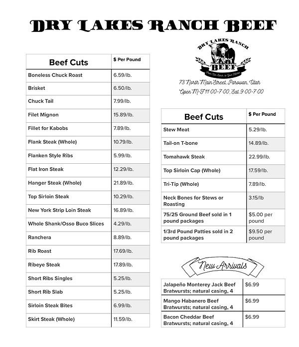 Dry Lakes Ranch Beef Price List.png