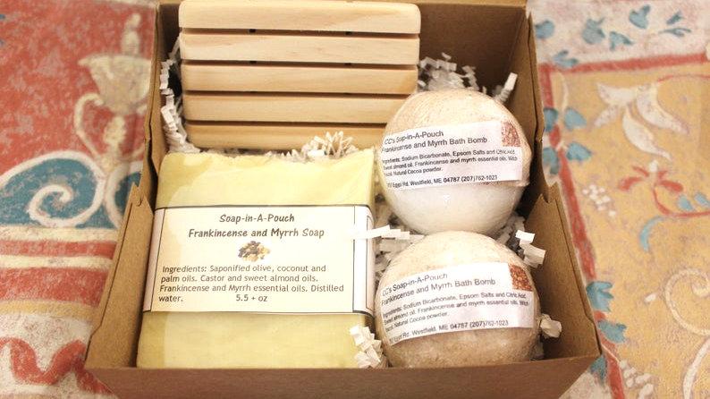 Frankincense and Myrrh Bath Gift Set