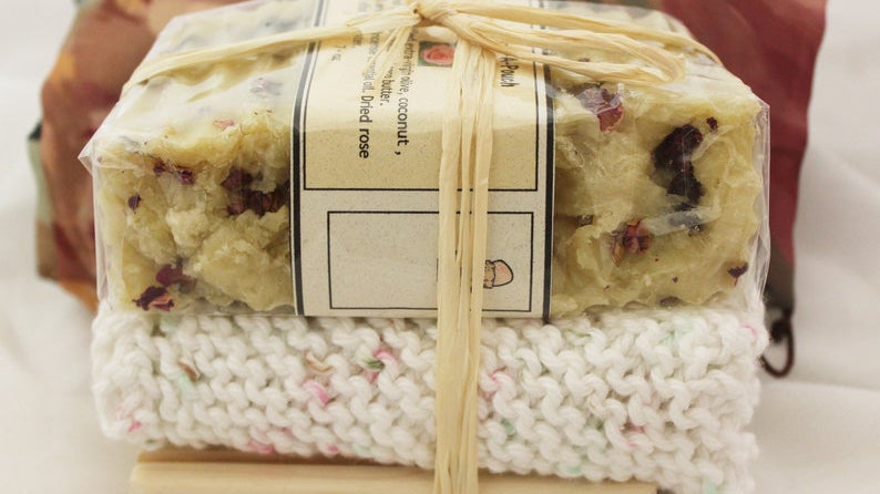 Patchouli Rose Soap Gift Set in a Pouch