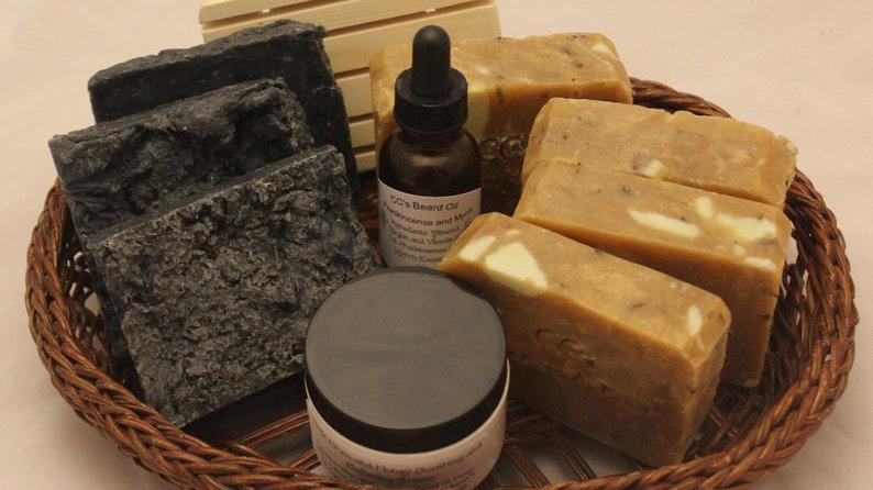 Frankincense and Myrrh Men's Natural Bathing Gift Set