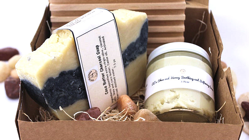 Coco Butter Charcoal Bath or Shower Gift Set