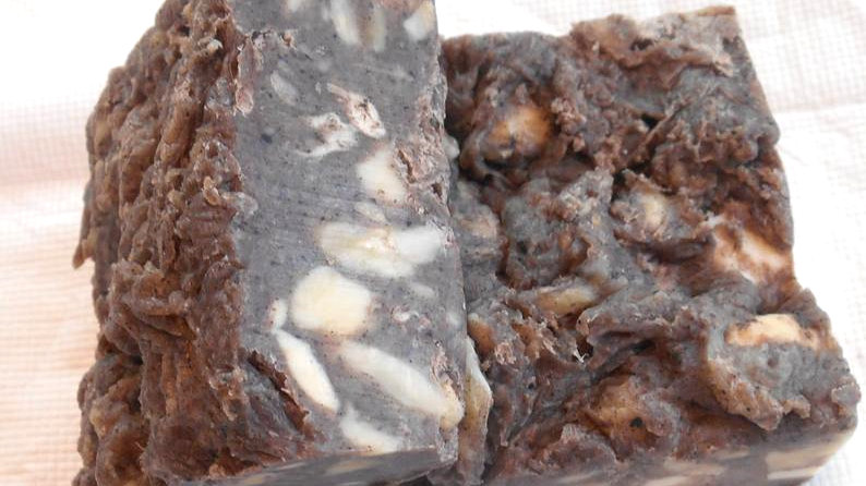 Chocolate Almond Brownie Nut Square Soap