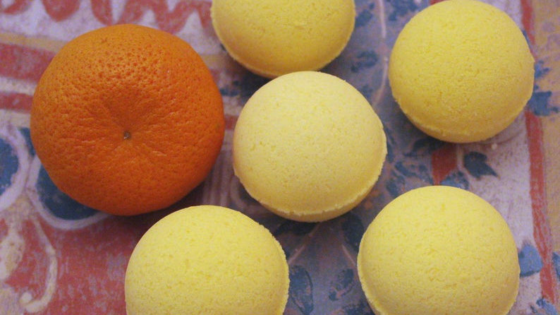 Natural Orange Bath Bombs