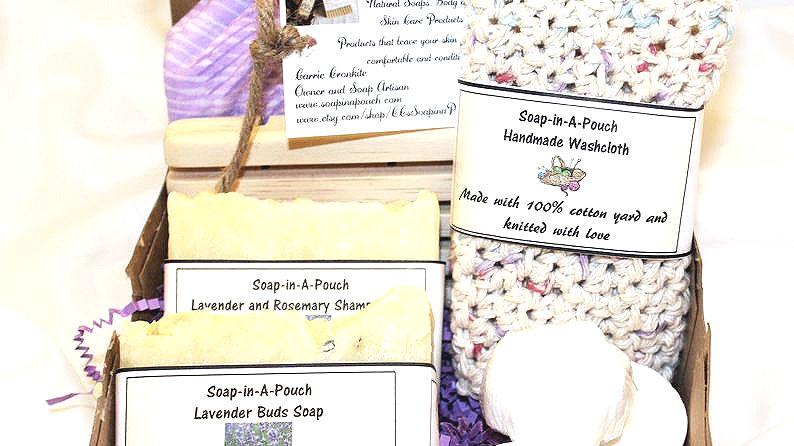 Lavender Buds Bath Gift Set