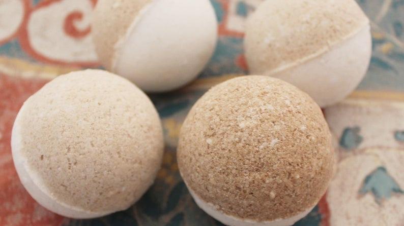 Frankincense and Myrrh Bath Bombs
