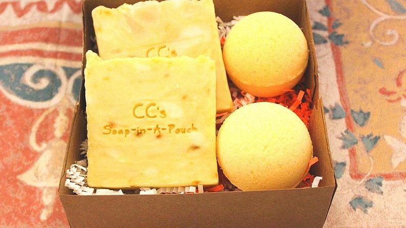 Citrus Soap and Bath Bomb Gift Set