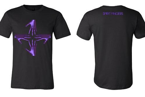 SPIRIT FINGERS purple hands t-shirt