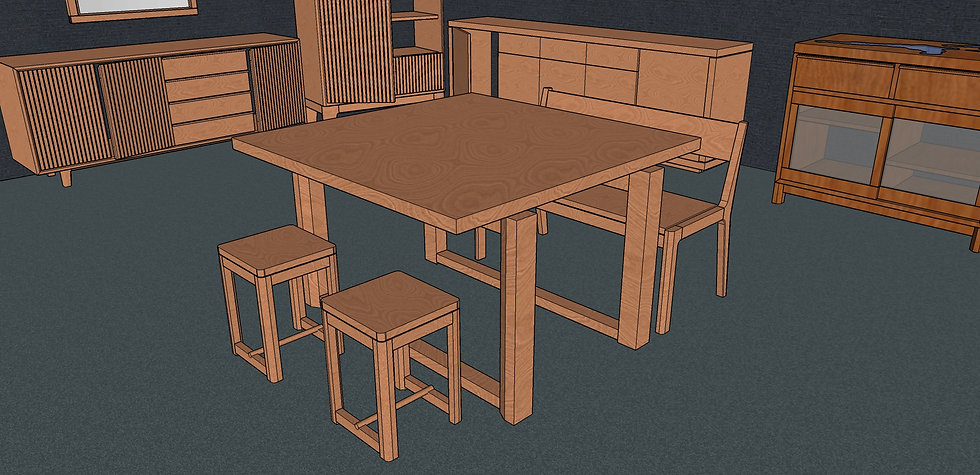Square Dining Table No. 6