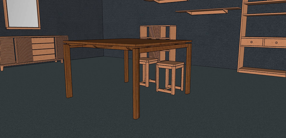 Square Dining Table No. 3