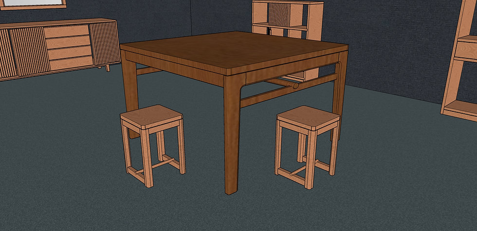 Square Dining Table No. 5